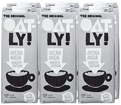 Oatly, Leche (Avena, Barista Edition) - 6 de 1000 ml. (Total 6000 ml.): Amazon.es: Alimentación y bebidas