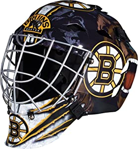 Franklin Sports Team Licensed NHL Hockey Goalie Face Mask - Goalie Mask for Kids Street Hockey - Youth NHL Team Street Hockey Masks