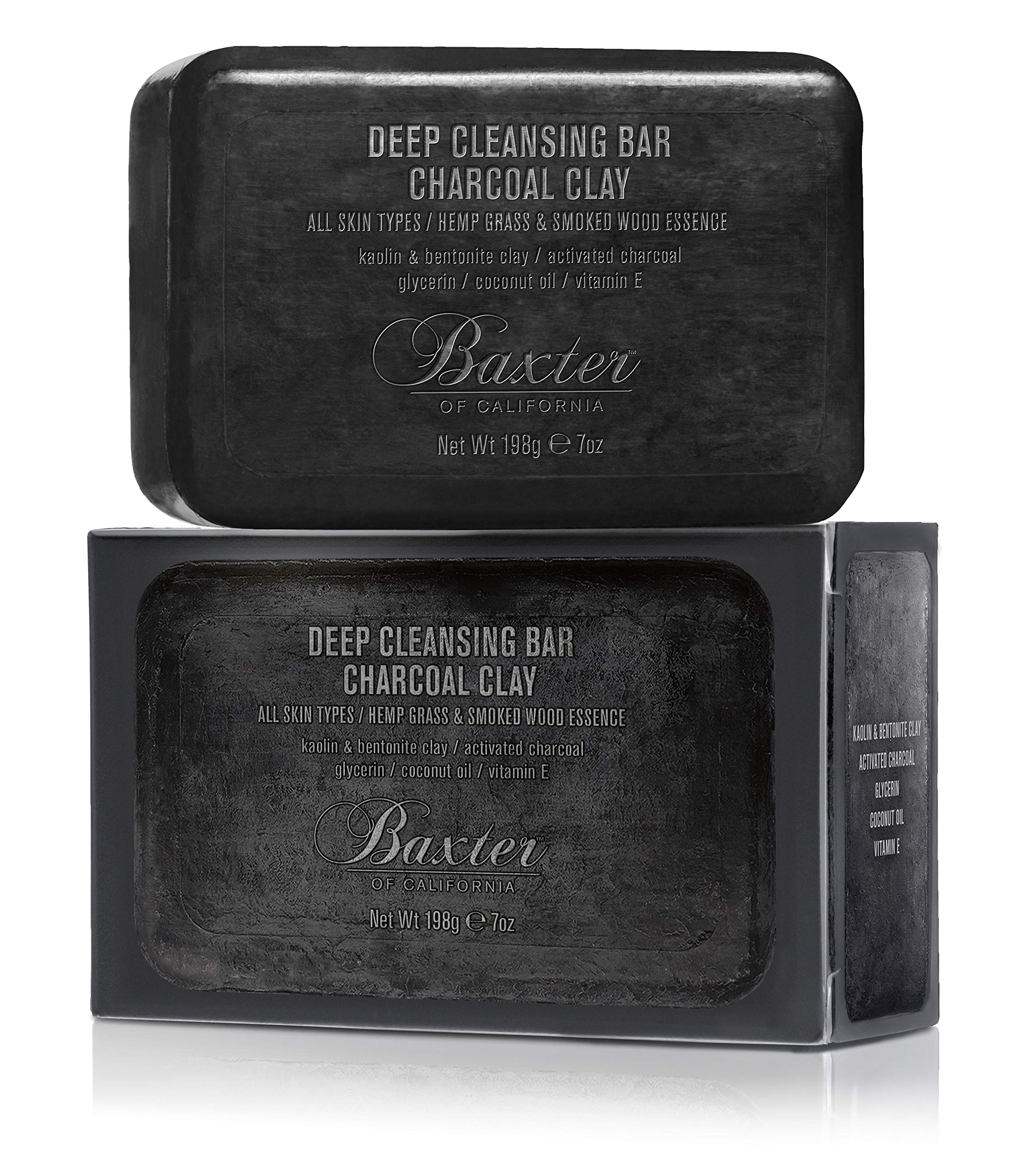 Baxter of California Deep Cleansing Body Soap Bar, Charcoal Clay, 7 oz. by Baxter of California