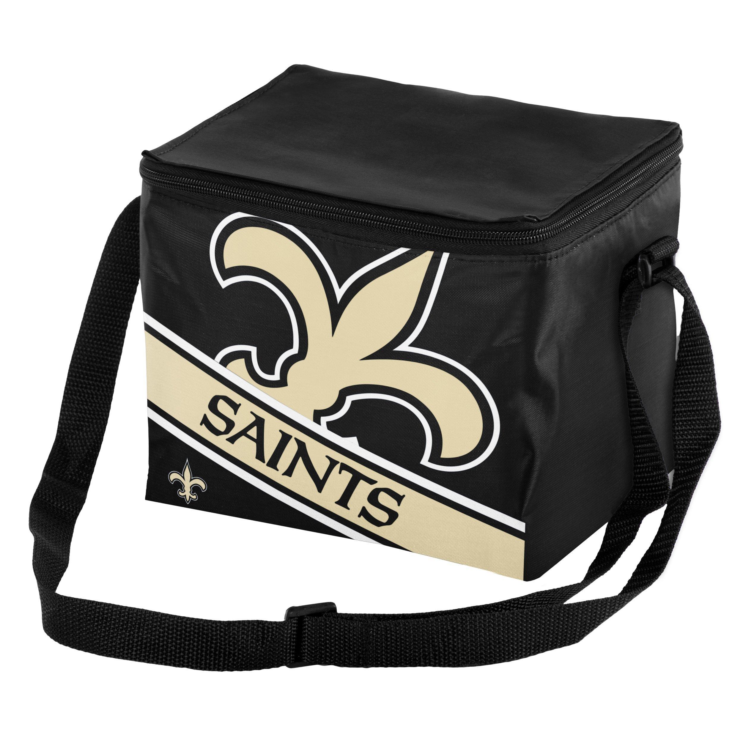 New Orleans Saints Big Logo Stripe 6 Pack Cooler