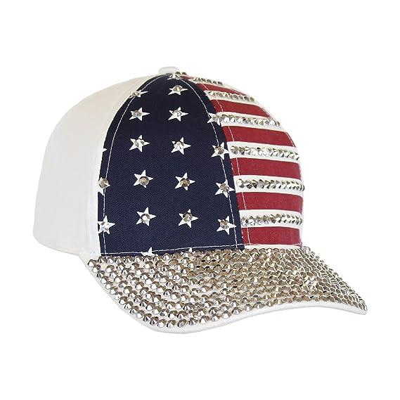 9f25ed060f8ac Amazon.com  USA Bling Baseball Cap