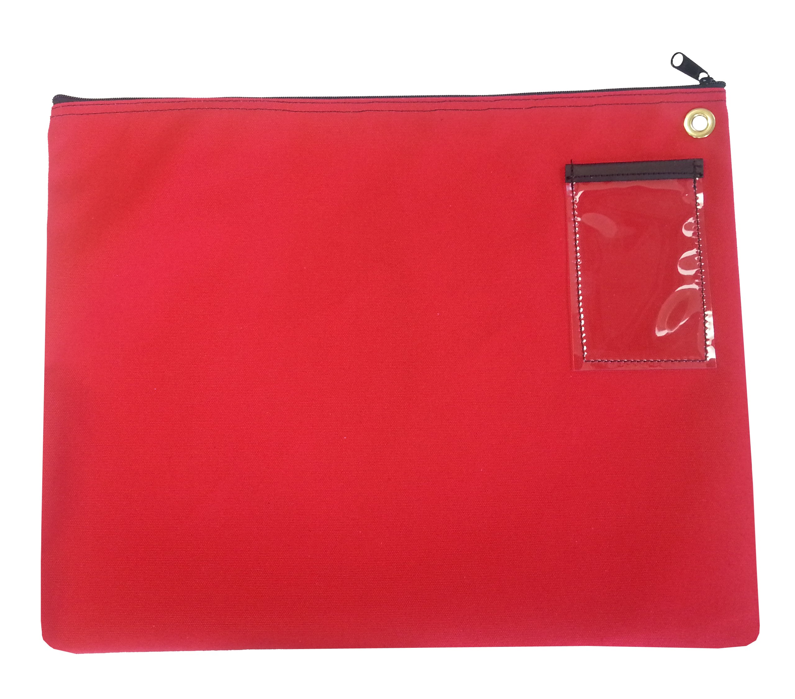 Interoffice Mailer Canvas Transit Sack Zipper Bag 18w x 14h Red