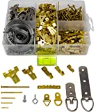 Picture Hanging Kit 450+ Pieces | Hardware for Frames Heavy Duty | Great Assortment Includes:Screws, Nails, D Rings…