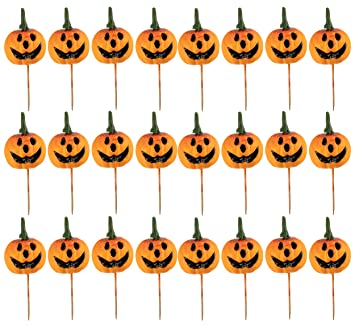 cupcake toppers 24 piece halloween themed cocktail picks party favors cake decoration supplies