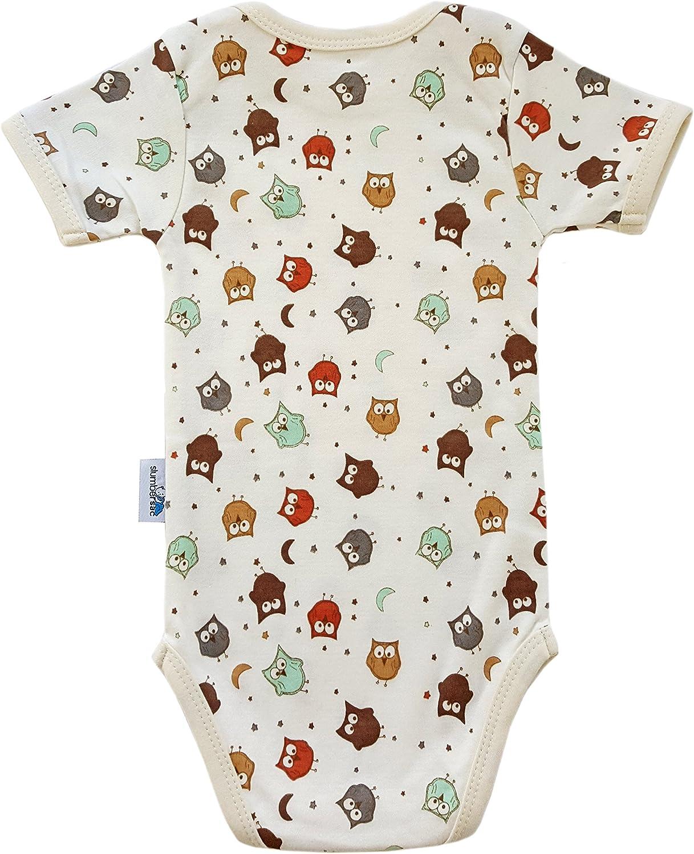 68cm//3-6 Months 5 Pack Slumbersac Baby Bodysuit Short Sleeve Forest Friends Size