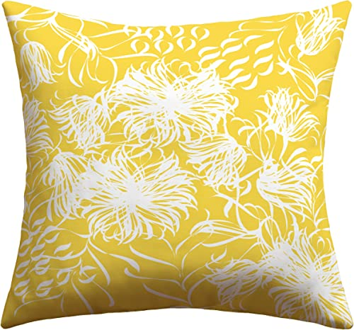 Deny Designs Vy La Bright Breezy Yellow Outdoor Throw Pillow, 26 x 26