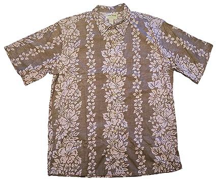 6e328e16 Cooke Street Men's Honolulu Classic Hawaiian Shirt (Black/Purple Flower  Print, Medium)