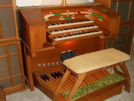 Vintage 3-manual electrónico teatro órgano: Amazon.es ...