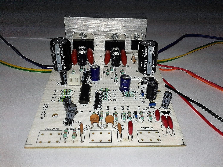 Salcon Electronics Tda7297 Low Noise Audio Amplifir Tone Control Circuit Schematic