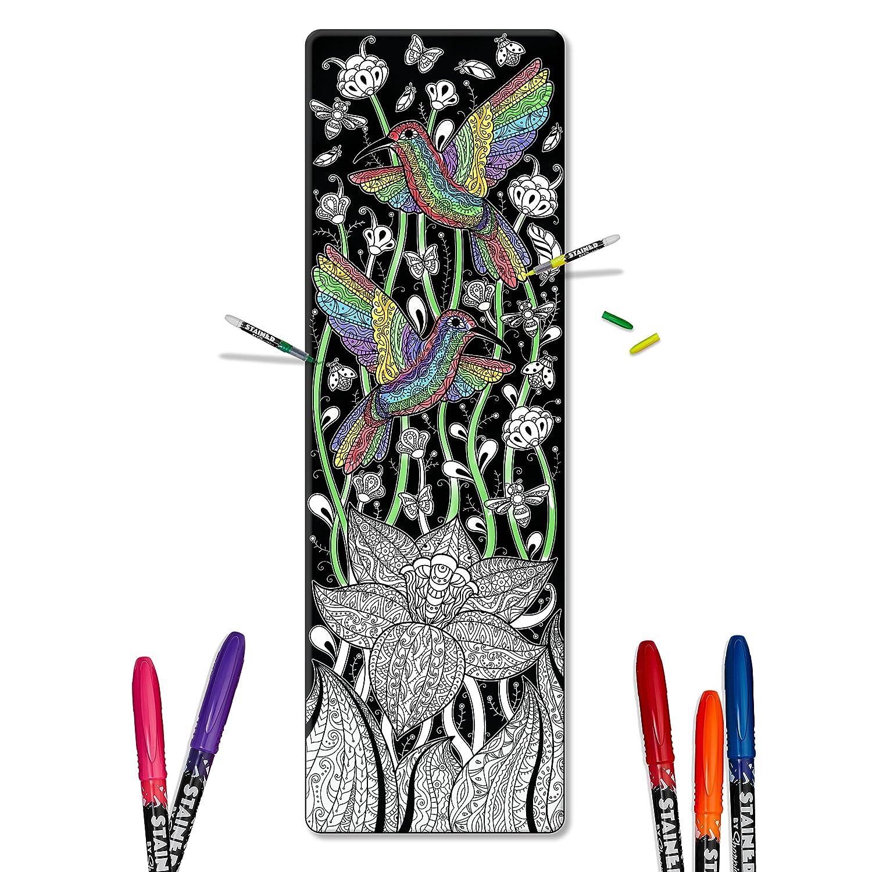 Amazon.com: Color en – Esterilla de yoga (adulto libro para ...