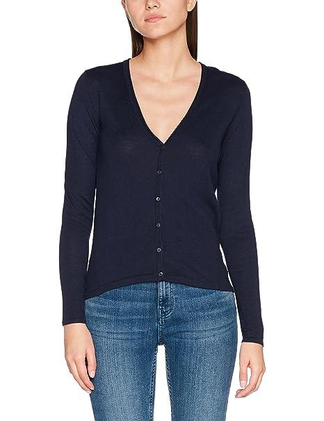 ESPRIT mit schönen Ziernähten, chaqueta punto Mujer, Azul (NAVY 5), 34