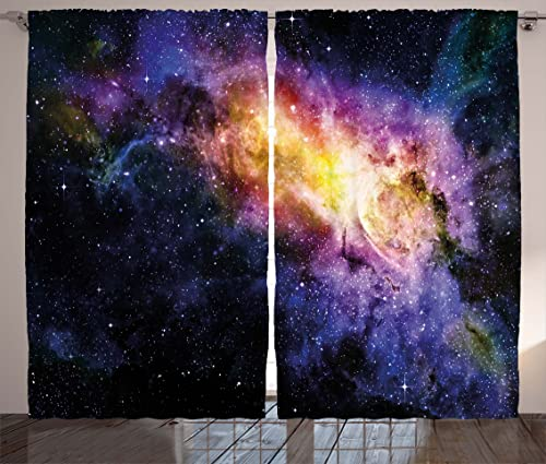 Ambesonne Galaxy Curtain
