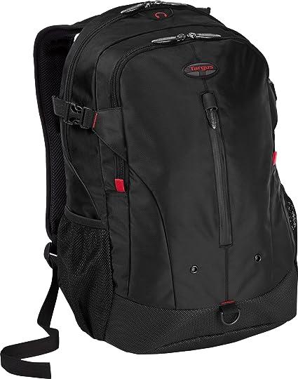 bb6ec29e652 Amazon.com: Targus Terra Backpack Designed for 16-Inch Laptops, Black/Red  Accents (TSB226US): Electronics