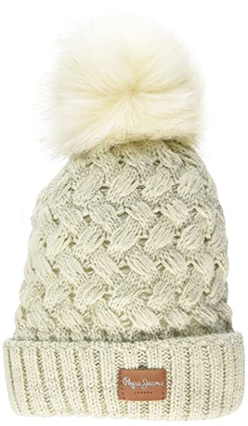 Pepe Jeans Becky Hat PG040159 Gorro de Punto, Marfil (Candle 806 ...