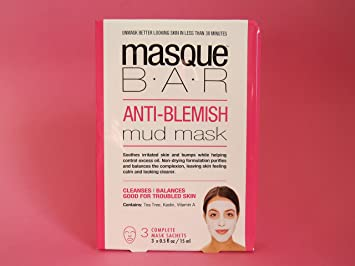 Look Beauty Masque Bar Anti-Blemish Mud Mask 3 masks The Elixir Beauty Korean Beauty Collagen Premium Essence Full Face Facial Mask Sheet Pack Sea Weed Essence 23g, 20 Packs