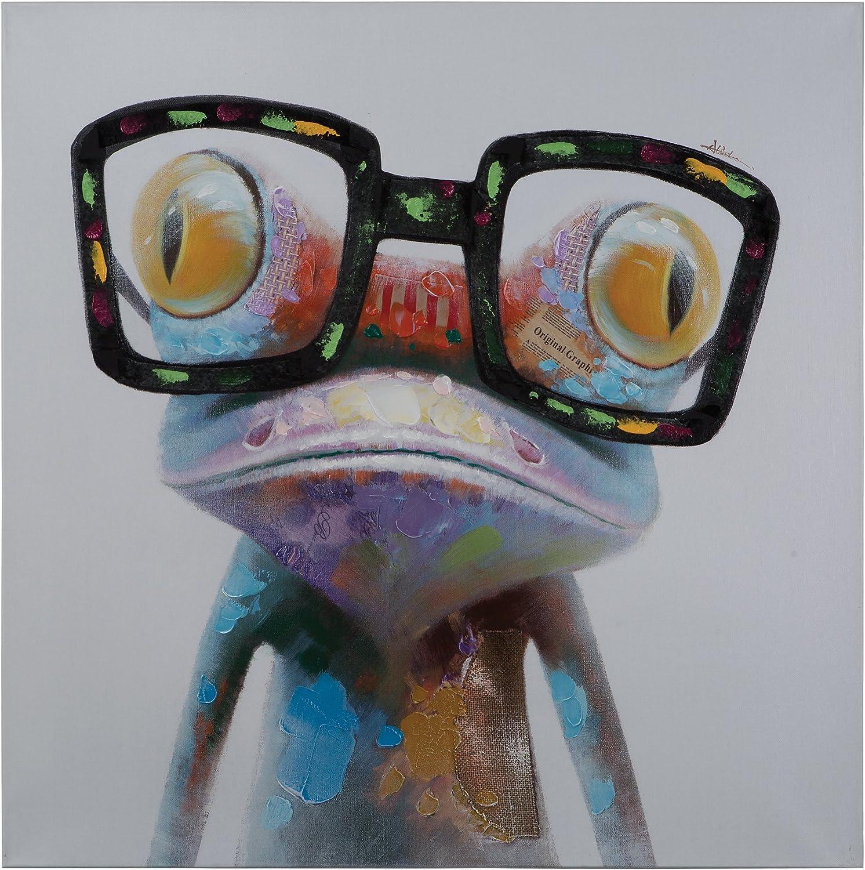 Amazon.com: Yosemite Home Decor Hipster Froggy, Multi: Paintings