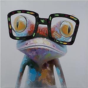 Yosemite Home Decor Hipster Froggy, Multi