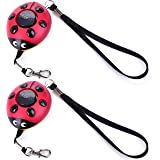 New Emergency Personal Alarm Keychain/the Wolf Alarm/Elderly/ Safety/Attack/Protection/ Panic/Self Defense Electronic Device with 130Db,Good for kids or Who Work At Night,as a Bag Decoration(2 pack)