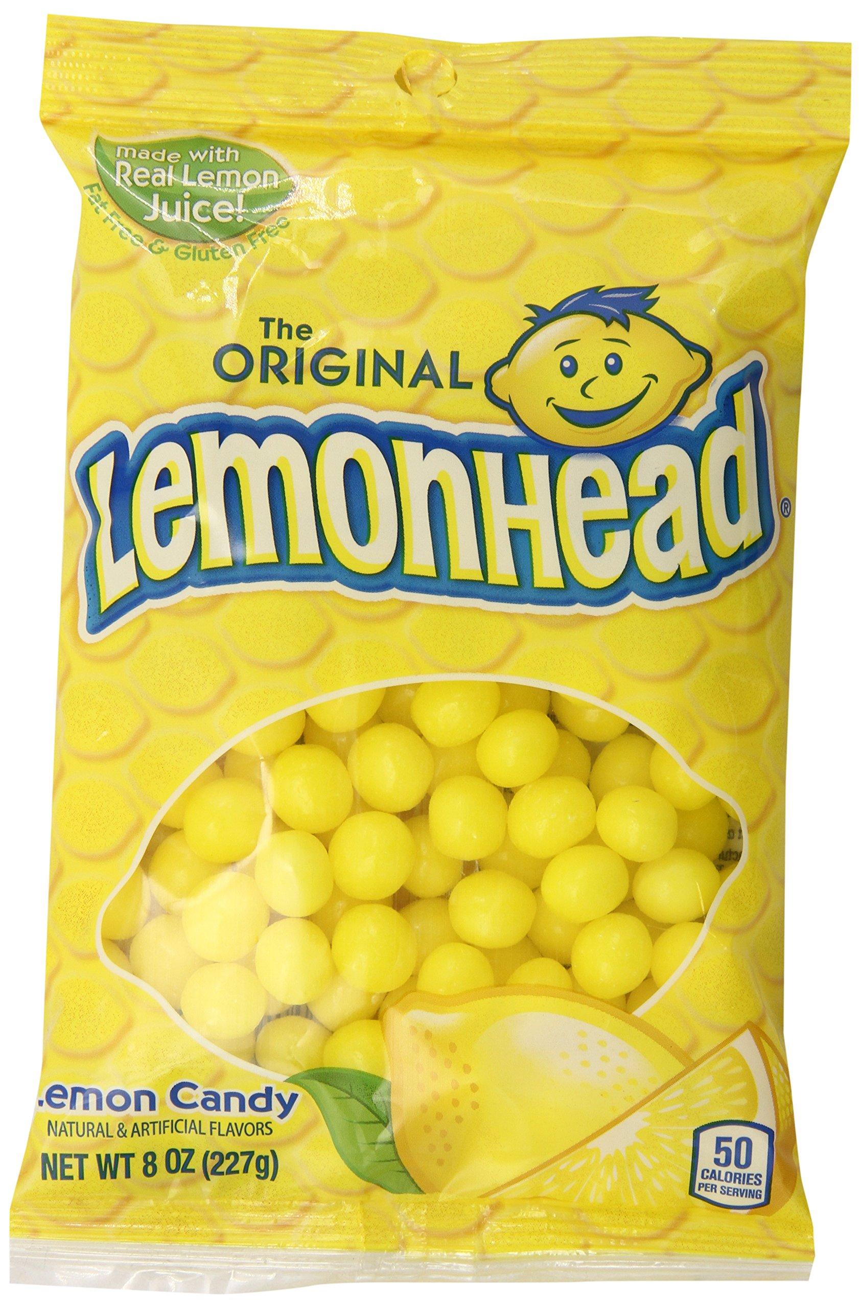 Lemonhead Hard Candy, Lemon, 8 Ounce Bag, Pack of 12 by Ferrara Pan