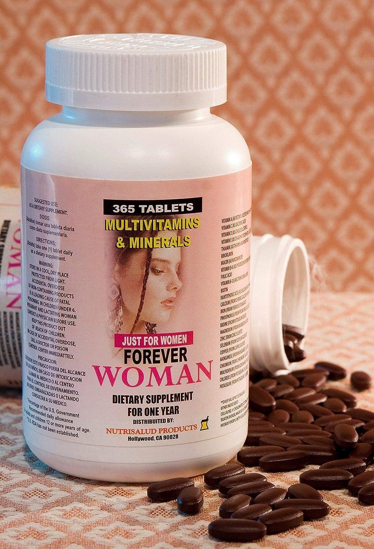 Amazon.com: Multivitaminas Forever Woman 365 tabletas para todo un año. Especialmente para la mujer, Combaten cansancio, aumentan la energia, ...