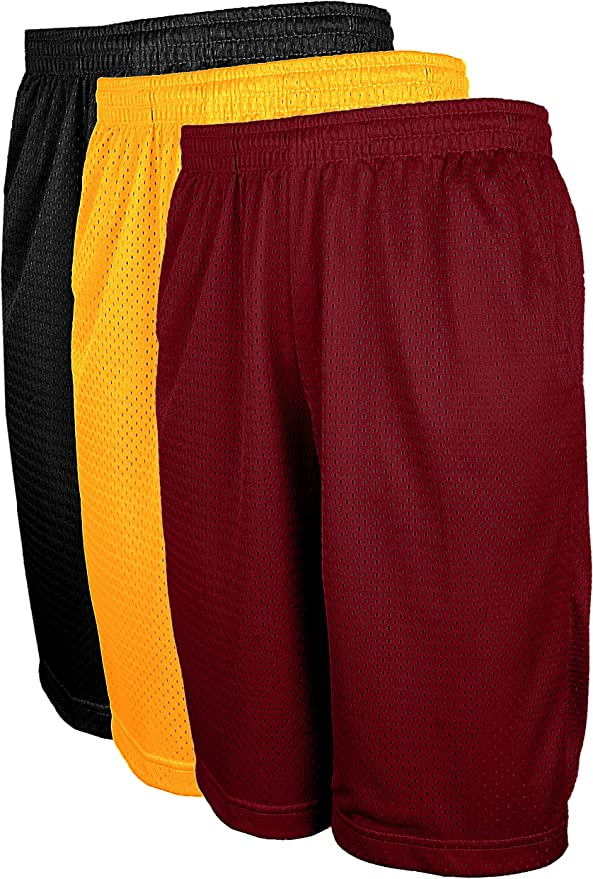 OLLIE ARNES Mesh Basketball Shorts for Men Athletic Gym Workout Short with Pockets S-6X