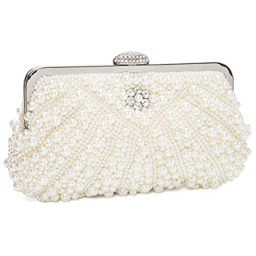 7b218931b9 Kisschic Borsa donna Borsa clutch Cerimonia Perline Perle Donne Eleganti  Pochette e clutch