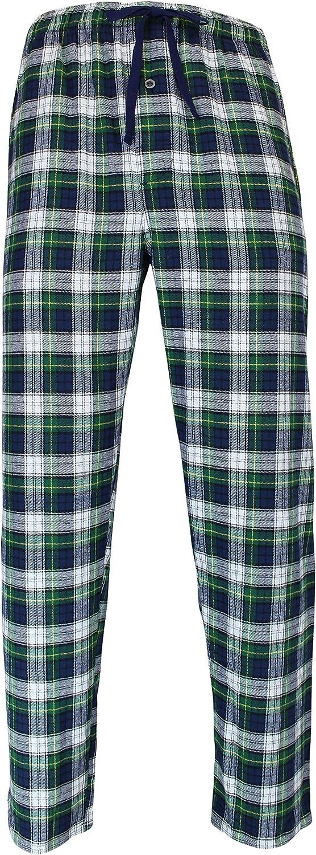 Plaid ,XXX-Large F0162 RK Classical Sleepwear Mens 100/% Cotton Flannel Pajama Pants,Green