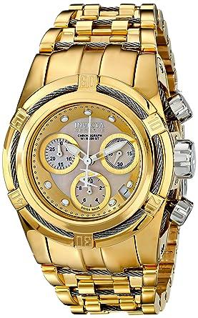 Invicta 15275 - Reloj de cuarzo para hombres, color oro: Amazon.es: Relojes