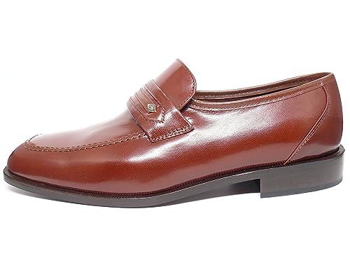 Zapato hombre mocasin vestir en piel de cabra marron marca DONATTELLI 9404 - 8: Amazon.es: Zapatos y complementos