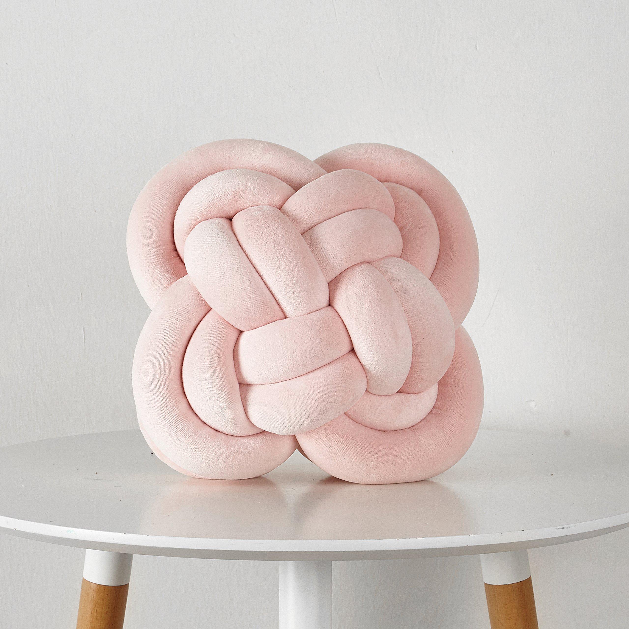 Pop Shop Pretzel Knot Decorative Pillow, Soft Pink
