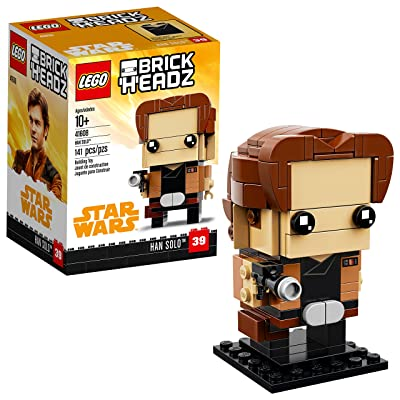 LEGO BrickHeadz Han Solo 41608 Building Kit (141 Piece): Toys & Games