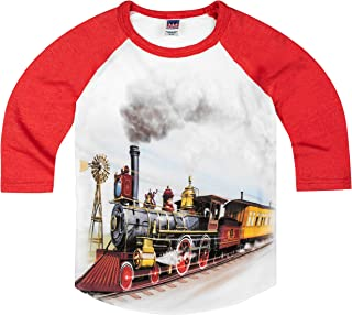 product image for Shirts That Go Little Boys' Old West Steam Train Raglan T-Shirt