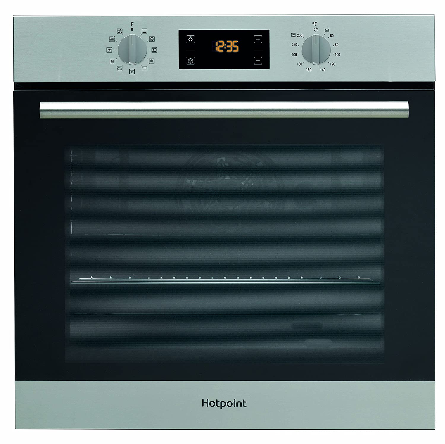 Hotpoint SA2844HIX Built-In A+ Rated Single Oven in Stainless Steel Indesit Group