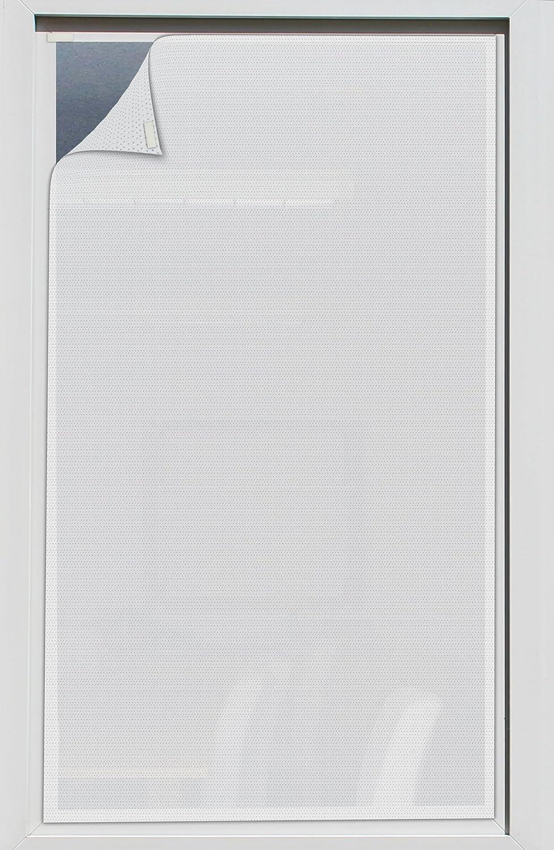 Der Jalousienladen EFIXS Sonnenschutz für Außen ohne Bohren - Farbe  Weiss - Breite  60,1 bis 80 x Höhe  100,1 bis 120cm - Montage  Selbstklebender Druckverschluss - SCHEIBENFIXS auf Maß