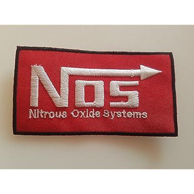# 121 Néanges en Nitrile d'oxyde Systems GRÖSSE env. 11 x 6 cm. Entièrement brodé. Patch APLICATION ECCUSON Hot Rod!