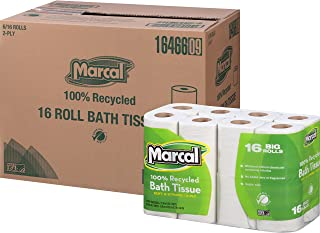 product image for Marcal 16466CT Bath Tissue, 2-Ply, 168 Sheets/Roll, 96 Rolls/CT, White