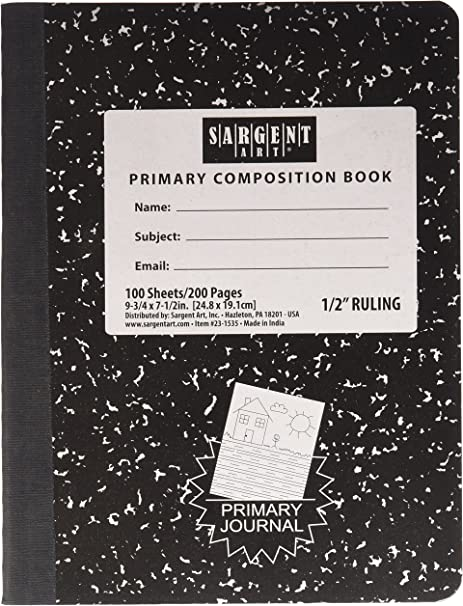 Sargent Art 6 Primary Rule Composition Books Hard Cover 100 Sheets Each
