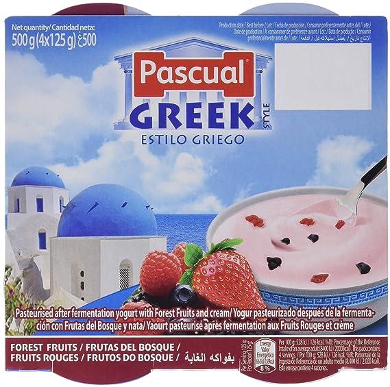 Pascual Yogur Griego con Frutas del Bosque - 6 Paquetes de 4 x 125 gr -