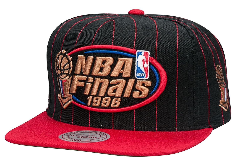 Mitchell & Nessブルズ1996 NBAファイナルパッチスナップバック帽子   B00KWRA08S
