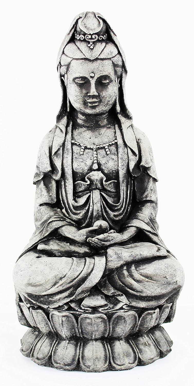 Kuan Yin Statue Home and Garden Cement Statues Asian Concrete Figures
