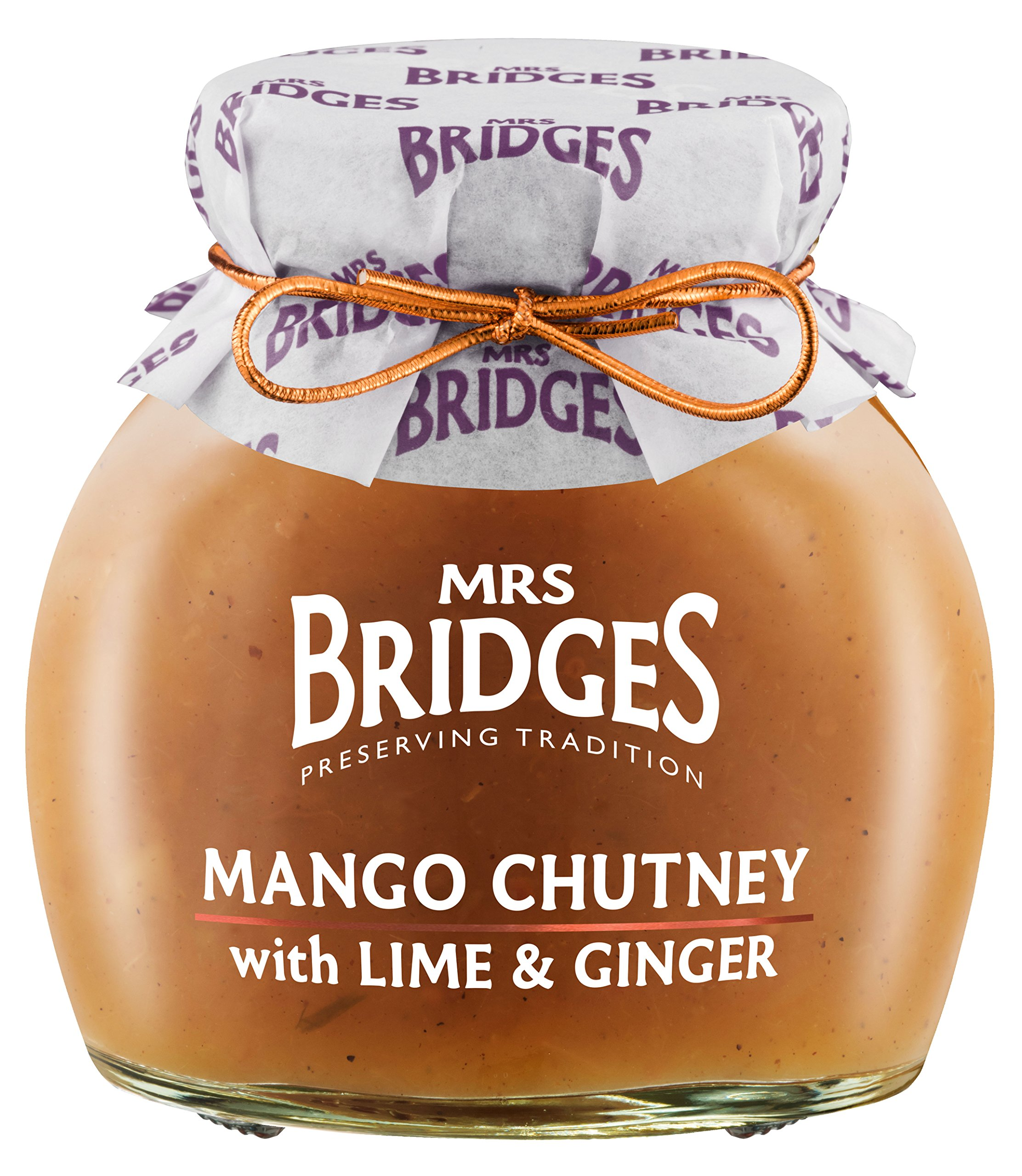 Mrs Bridges Mango Chutney with Lime and Ginger, 10.2 Ounce