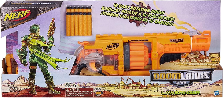 Doomlands 2169 Lawbringer Nerf Fusil Blaster 12 Fl/échettes