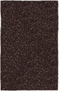 product image for Super Shag Area Rug Shaw Swag Collection Pewter 2 Feet 6 Inches x 12 Feet.