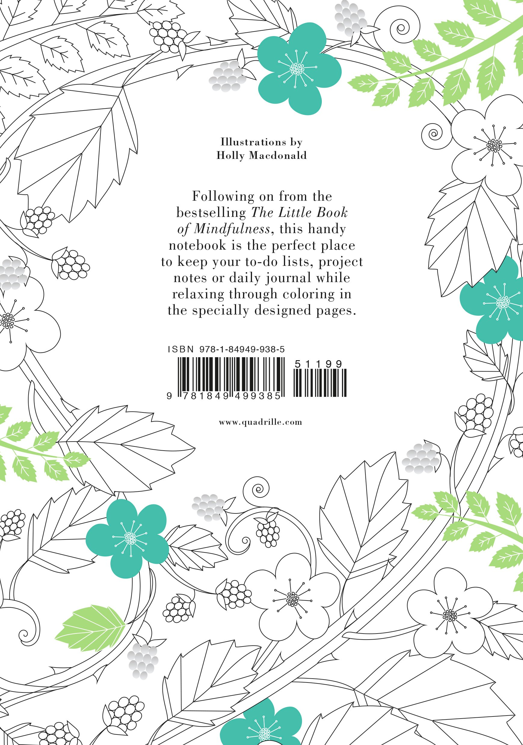 Little book of coloring for mindfulness - Amazon Com Mindfulness Coloring Notebook 9781849499385 Holly Macdonald Books
