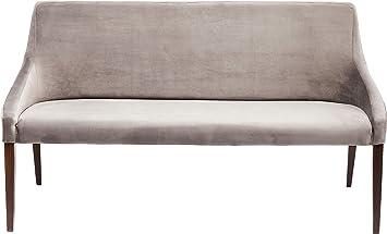 Kare Bank Mode Velvet Grau 83518 Elegante Esszimmerbank In Samt