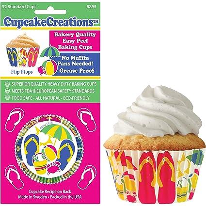 751fa5714af93 Amazon.com  Cupcake Creations Beach Flip Flops Baking Cup