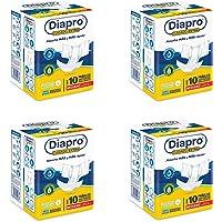 Diapro Pañal Confort para Adulto - Mediano, 40 pañales (4 paquetes con 10 piezas)
