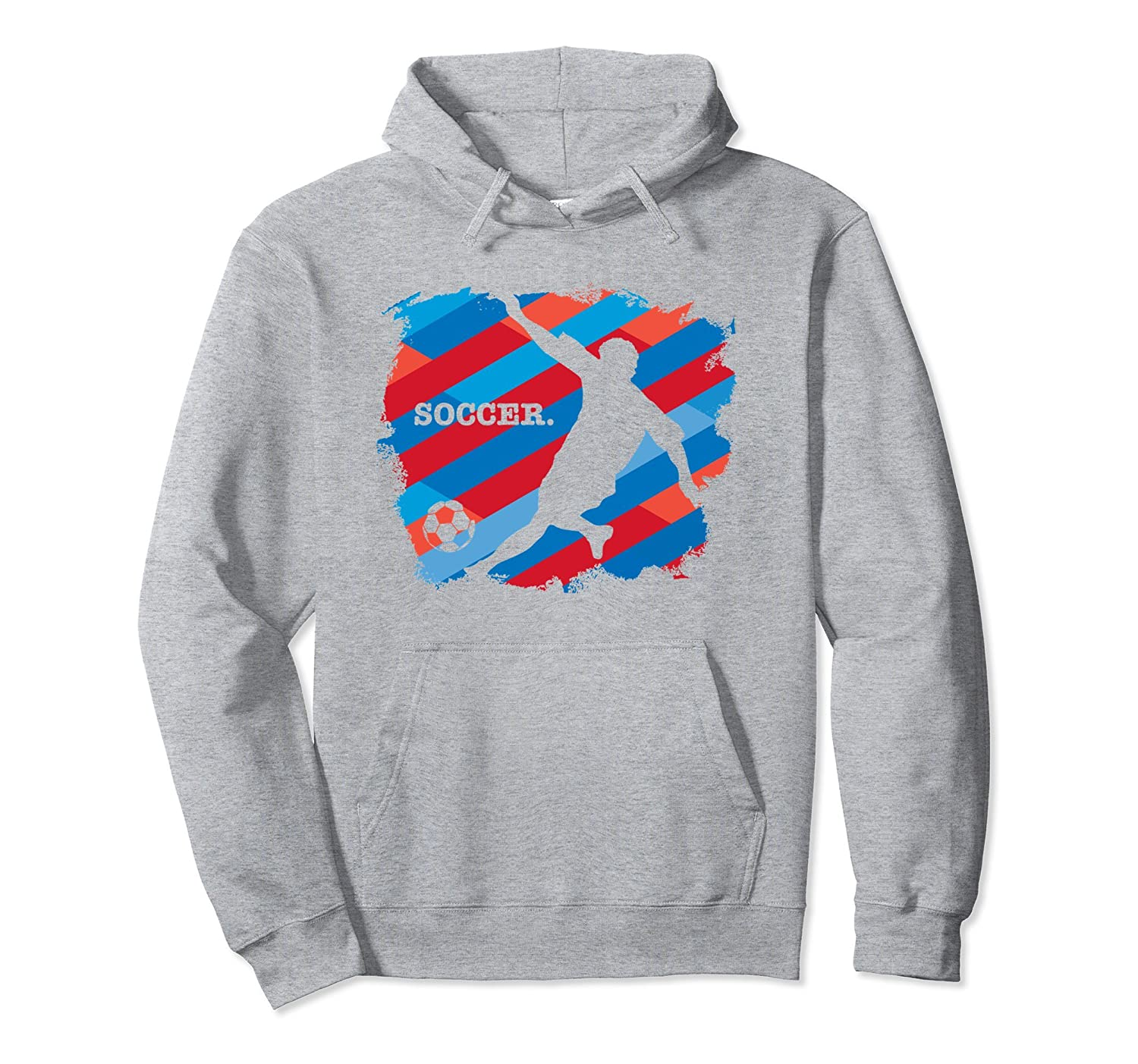 America Soccer Player Men Women Youth Pullover Hoodie-alottee gift