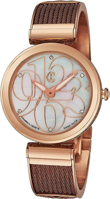 Charriol Reloj de Mujer Cuarzo Suizo 32mm Correa de Acero Dorado FE32.602.002
