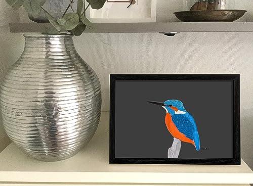 Kinderzimmer Kunst f/ür Kinder Vogel Poster Elster Vogel Zeichnung Hellblau Kunstdruck auf Premium Fotopapier